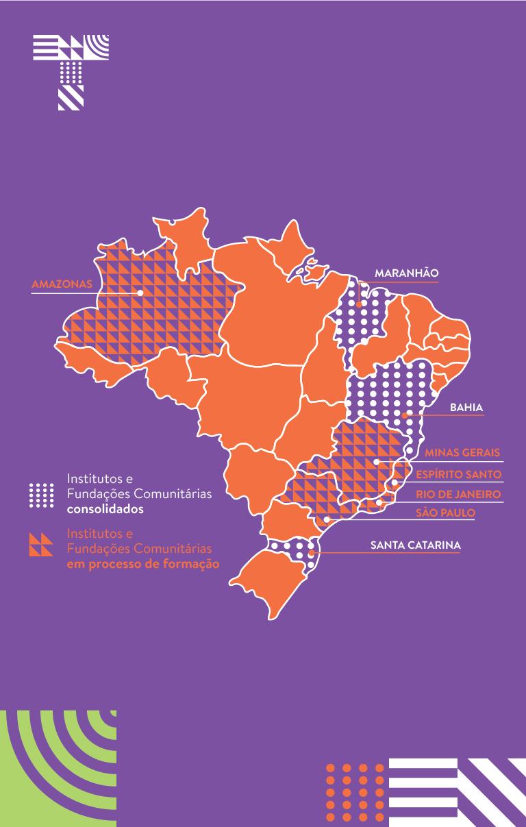 Mapa_Institutos Fundaçoes Comunitárias Brasil